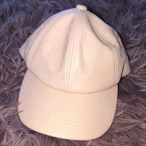 Steve Madden Nude Leather Hat